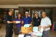 Nebulizers -- Leni Olnas (2nd from left), receives a unit of nebulizer fromPresidentJohnny Pecayo of RCML, while PDG Guiller Tu